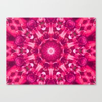 Pink Mandala Of The Ston… Canvas Print