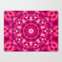 Pink mandala of the stones Canvas Print
