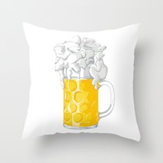 Ice Cold Bee(a)rs Throw Pillow