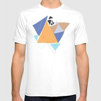 Exploding Triangles//One Mens Fitted Tee White SMALL