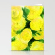 Yellow Flowers II Stationery Cards