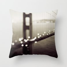 Meet Me In San Francisco (Black and White Edition)  Throw Pillow