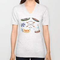 Adventures By Sail Or Pa… Unisex V-Neck
