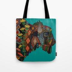 bison teal Tote Bag
