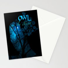 Owl in the Nigh Stationery Cards