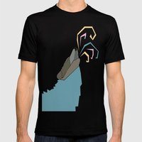 Wolf Colors  Mens Fitted Tee Black SMALL