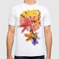 Abstraction on a tree Mens Fitted Tee Ash Grey SMALL