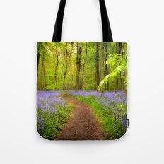 Bluebells path Tote Bag