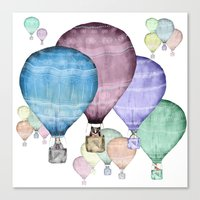 Balloons And Animals! Canvas Print