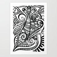 Trumpeting Tangle Art Print