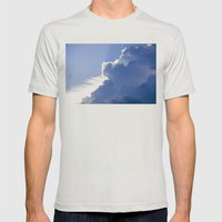 Clouds No.1   -  Thunder Mens Fitted Tee Silver SMALL