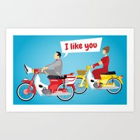 Pee-Wee And Dottie Art Print