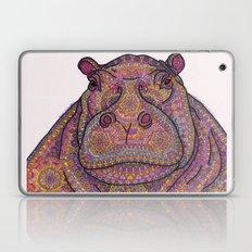 Hippie-Potamus (Pink) Laptop & iPad Skin