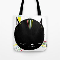 MIGHTY TIGARRR, BLACK KITTEN 묘 Tote Bag