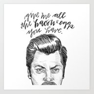 Ron Swanson. [Parks And … Art Print