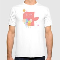 Owly Owl//One Mens Fitted Tee White SMALL
