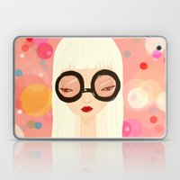 Girl With Big Glasses (I… Laptop & iPad Skin