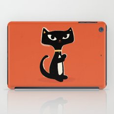 Suspiciously Cute Black Cat iPad Case