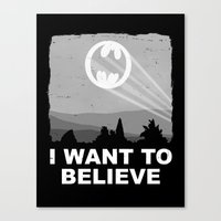 I Want to Believe in a Hero Canvas Print