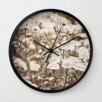 Roaming Through Wild Flower Fields Wall Clock