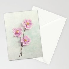 pink anemone Stationery Cards