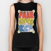 FAKE GEEK GIRL Biker Tank