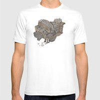 Space Bird Mens Fitted Tee White SMALL
