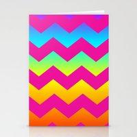 Rainbow Zig - Zag Stationery Cards
