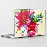 Laptop & iPad Skin featuring Exploded Floral by Clemm