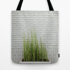 Green on White Tote Bag