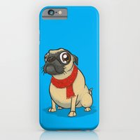 Pug with a scarf iPhone 6 Slim Case
