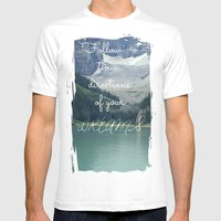 Follow The Directions Of… Mens Fitted Tee White SMALL