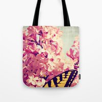 Lilac Monarch Tote Bag