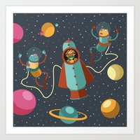 Space Scavengers Art Print