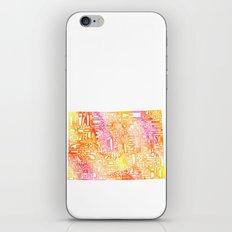 Typographic Colorado - orange watercolor iPhone & iPod Skin