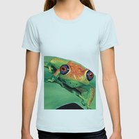 Rana Del Madagascar Womens Fitted Tee Light Blue SMALL