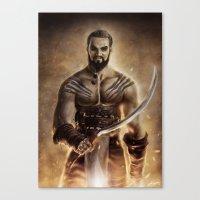 Khal Drogo Canvas Print