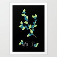 Myrtilles Art Print