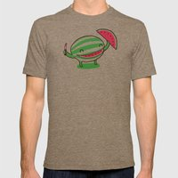 Happy slice of life Mens Fitted Tee Tri-Coffee SMALL