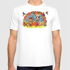 Hideaway Love White SMALL Mens Fitted Tee