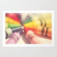 Crayon Love: Color Explo… Art Print