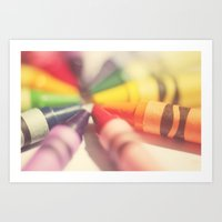 Crayon Love: Color Explosion Art Print