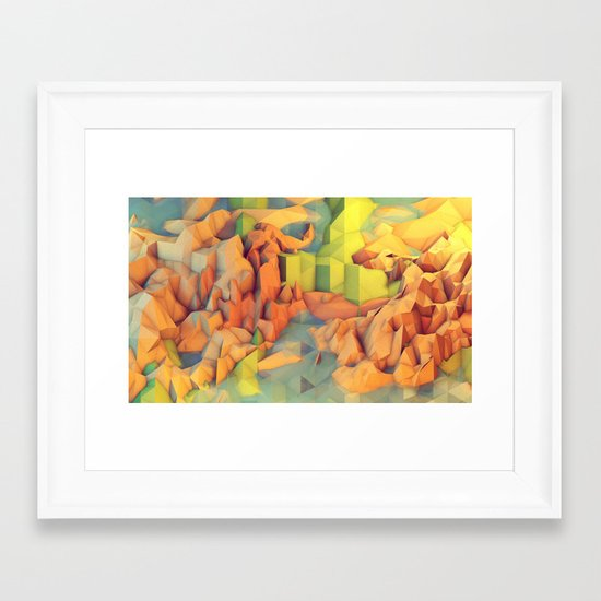 Vacation Island Framed Art Print