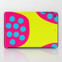 Green Purple Dots iPad Case