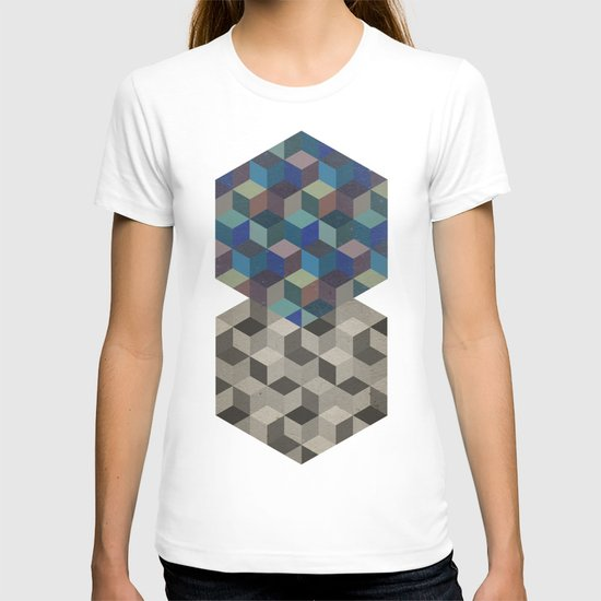 Dimension in blue T-shirt