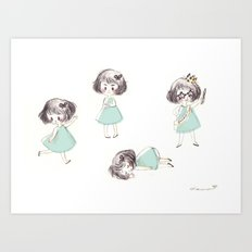 Funny child Art Print