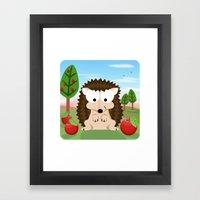 Woodland Animals Series II. hedgehog Framed Art Print