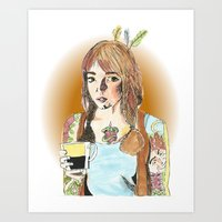 Tattoos and Tea Art Print