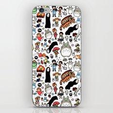 Kawaii Ghibli Doodle iPhone & iPod Skin