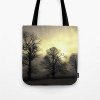 Golden Tree Landscape Tote Bag